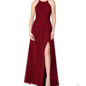 Azazie Ginger Allure Bridesmaid Dress - Burgundy
